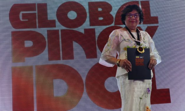 Bayanihan founder honoured as 'Global Pinoy Idol'